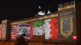 VIDEO: Bendera Bahrain dan UEA Berkibar di Yerusalem