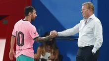 Koeman Kembali Parkir Messi di Liga Champions