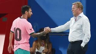 FOTO: Messi Kirim Tanda Bahaya untuk Musuh Barcelona