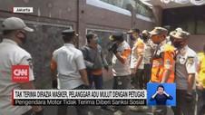 VIDEO: Razia Masker, Pelanggar Adu Mulut dengan Petugas