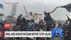 VIDEO: Viral Aksi Konvoi Ratusan Motor Tutup Jalan