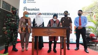 Peresmian Labkesda Bukti Surabaya Serius Tangani COVID-19