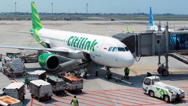 Maskapai Citilink Indonesia menjual seluruh kursi penumpang untuk tiap penerbangan selama Pelaksanaan Pembatasan Kegiatan Masyarakat (PPKM) di Jawa dan Bali.