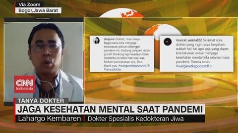 VIDEO: Jaga Kesehatan Mental Saat Pandemi