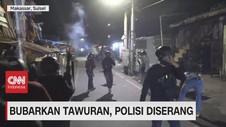 VIDEO: Bubarkan Tawuran, Polisi Diserang