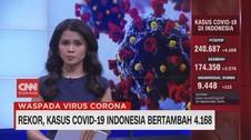 VIDEO: Rekor, Kasus Covid-19 Indonesia Bertambah 4.168