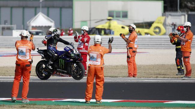 Tim pabrikan Yamaha akhirnya memenangi balapan di MotoGP 2020 setelah Maverick Vinales jadi pemenang di MotoGP Emilia Romagna.