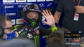 VIDEO: Rossi Puas Start Ketujuh di MotoGP Emilia Romagna