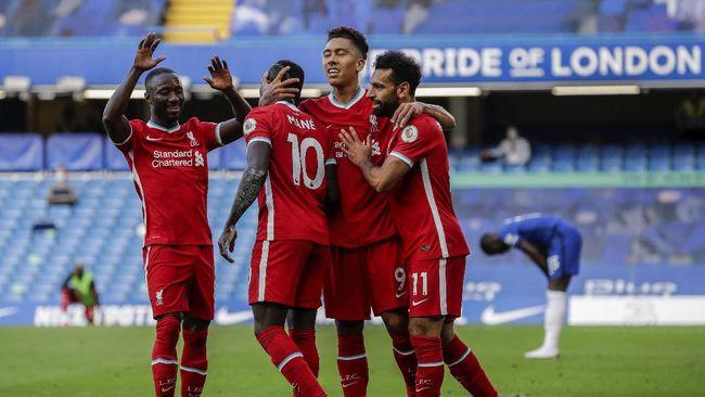 Berikut tujuh fakta menarik kemenangan Liverpool atas Chelsea pada matchday kedua Liga Inggris 2020/2021.