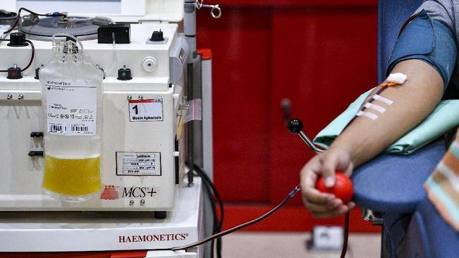 Hasil uji klinis Fase I terapi plasma darah konvalesen yang dilakukan di RSPAD Gatot Soebroto diklaim berhasil.