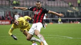 FOTO: Ibrahimovic Antar Milan Menang atas Bologna