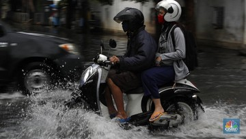 Banjir Jakarta (CNBC Indonesia/Tri Susilo)