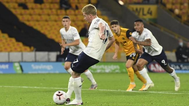 Manchester City menang 3-1 atas Wolverhampton Wanderers pada laga pertama di Liga Inggris di Stadion Molineux, Selasa (22/9).