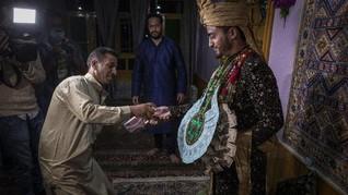 FOTO: Corona yang 'Menyederhanakan' Pesta Pernikahan Kashmir