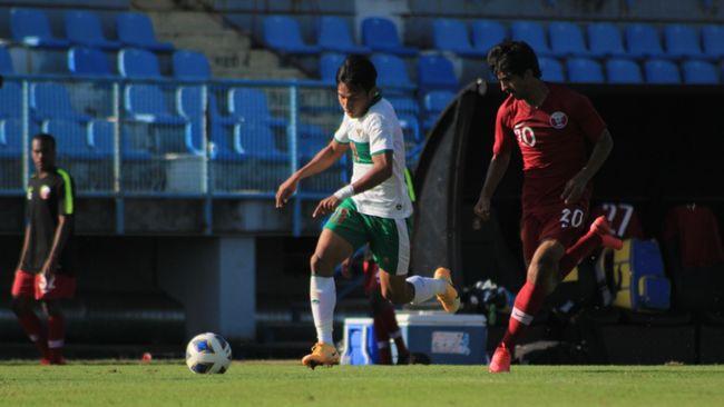 Timnas Indonesia U-19 unggul 1-0 atas Dinamo Zagreb di babak pertama berkat gol Witan Sulaeman.