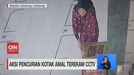 VIDEO: Aksi Pencurian Kotak Amal Terekam CCTV