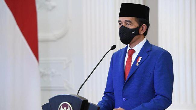 Presiden Joko Widodo memberikan dukungan untuk Palestina dalam Sidang Umum PBB secara virtual dari Istana Negara, Jakarta.