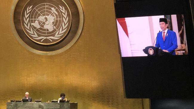 Isu Afghanistan hingga Myanmar turut menjadi sorotan dalam pidato Presiden Joko Widodo di Majelis Umum PBB Ke-76.