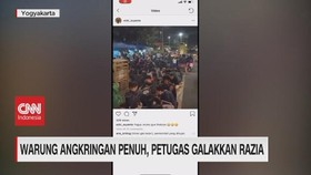 VIDEO: Viral Warung Angkringan Penuh, Petugas Galakkan Razia