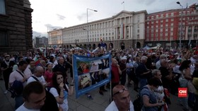 VIDEO: Hari Kemerdekaan Bulgaria Diwarnai Unjuk Rasa Warga
