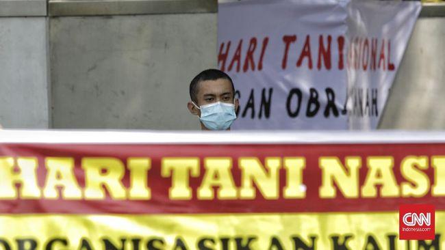 Komite Nasional Pembaruan Agraria (KNPA) mencatat sejumlah massa aksi Hari Tani Nasional di Kupang, Makassar, Solo, Bengkulu masih ditahan polisi.