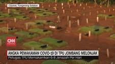 VIDEO: Angka Pemakaman Covid-19 di TPU Jombang Melonjak