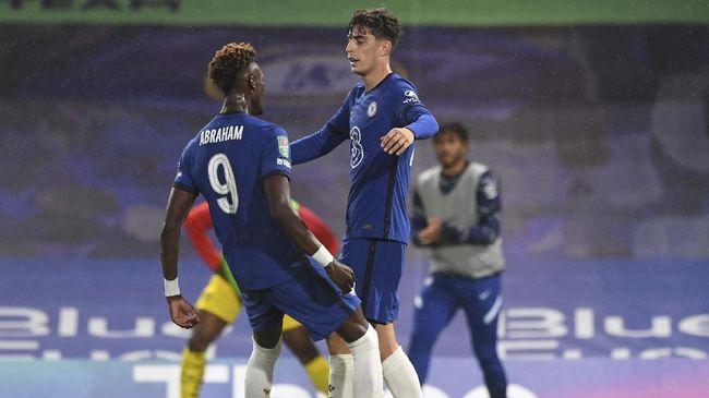 Pemain baru Chelsea, Kai Havertz, merasa cocok bermain dengan Tammy Abraham di lini depan The Blues.