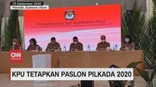 VIDEO: KPU Tetapkan Paslon Pilkada 2020