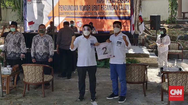 Calon wali kota Surabaya, Machfud Arifin bangga mendapat nomor urut 2 seperti Jokowi pada Pilpres 2014 lalu.