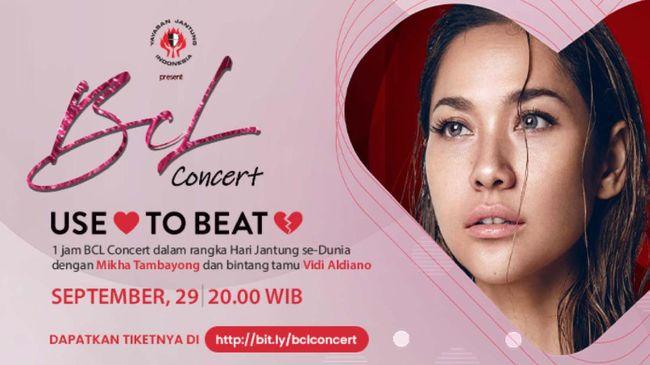 Seluruh donasi dari pembelian tiket konser BCL diperuntukkan bagi operasi anak-anak penderita penyakit jantung bawaan melalui Yayasan Jantung Indonesia.