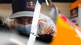 Marquez Histeris Lihat Alex Nyaris Jatuh di MotoGP Aragon
