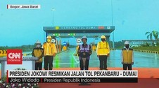 VIDEO: Presiden Jokowi Resmikan Jalan Tol Pekanbaru - Dumai