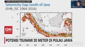 VIDEO: Potensi Tsunami 20 Meter di Pulau Jawa
