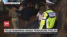 VIDEO: Polisi Bubarkan Massa Pendukung Paslon