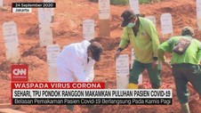 VIDEO: Sehari, TPU Makamkan Puluhan Pasien Covid-19