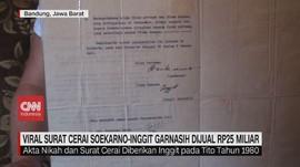 VIDEO: Viral Surat Cerai Soekarno Dijual Rp25 Miliar