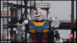 VIDEO: Viral Robot Gundam Raksasa Bisa Bergerak di Jepang