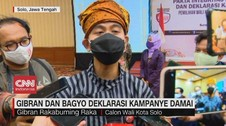VIDEO: Gibran dan Bagyo Deklarasi Kampanye Damai
