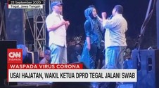 VIDEO: Usai Hajatan, Wakil Ketua DPRD Tegal Jalani Swab