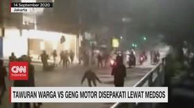 VIDEO: Tawuran Warga Vs Geng Motor Disepakati Lewat Medsos