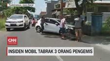 VIDEO: Insiden Mobil Tabrak 3 Orang Pengemis