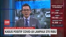 VIDEO: Kasus Positif Covid-19 Lampaui 270 Ribu