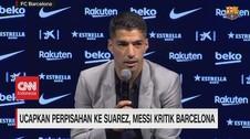 VIDEO: Ucapkan Perpisahan ke Suarez, Messi Kritik Barcelona