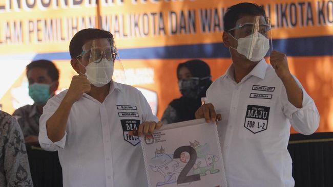 Simpatisan PDIP yang menamakan diri Banteng Kekaton mendeklarasikan dukungan kepada Machfud Arifin-Mujiaman di Pilkada Surabaya.