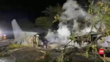 VIDEO: Pesawat Militer Ukraina Jatuh, 22 Orang Tewas