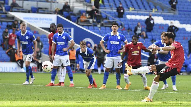 Belum genap setahun gabung Manchester United, Bruno Fernandes dikabarkan jadi incaran Real Madrid dan Barcelona.
