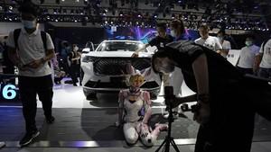 FOTO: Pulih Dari Pandemi, China Gelar Pameran Mobil