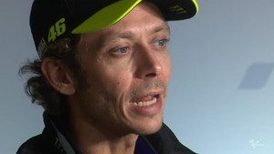 VIDEO: Rossi Girang Start Baris Pertama di MotoGP Catalunya