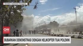 VIDEO: Bubarkan Demonstrasi dengan Helikopter Tuai Polemik