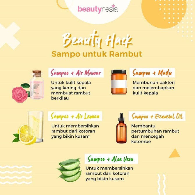 Infografis - beauty hack shampoo